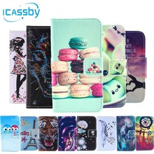 I4/4S Phone Etui For Coque Apple iPhone 4S Case Luxury Skull Cat Leather Wallet Flip Cover For iPhone 4 Dual Sim Housing Capinha(China)