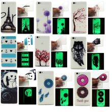 Luminous effects phone case For Huawei P8 lite Ultra thin Cartoon Soft TPU Painted Protector back cover for huawei p8 Lite shell