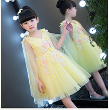 2017 New Style Lace Flower Girls Dresses Appliques Kids Pageant Party First Communion Dresses for Little Girls Wedding Dresses