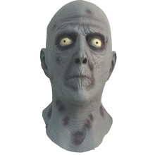 Scary Old Man Latex Mask Terror Blue Male Head Rubber Masks Halloween Carnival Masquerade Zombie Cosply Party Fancy Dress Props(China)