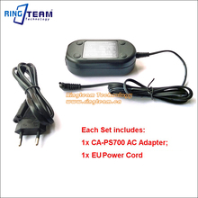 10Sets/Lot CA-PS700 CAPS700 AC Adapter for Canon PowerShot S1 S2 S3 S5 SX1 SX10 SX20 IS Elura 40MC 50 60 65 70 80 MV5i MV6i MC(China)