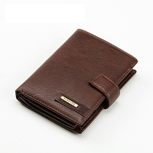 Vintage men short brand wallet genuine leather money clip male purse retro hasp stone pattern student coin card Passport purse