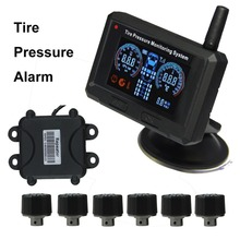 Truck Tire Pressure Alarm 6 External Sensors Tyre Pressure Monitoring System(China)