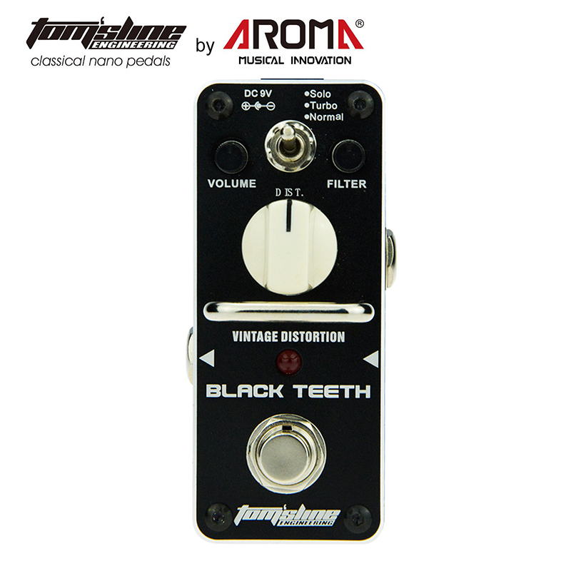 Distortion Pedal Guitar Effect Black Teeth Warm Smooth Wide Range Vintage Effect Sound 3 Versions of Proco Rat Distorti<br>