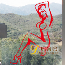 Sexy naked woman sitting room sofa background adornment of bedroom the head of a bed wall stickers bar KTV billiards decoration(China)