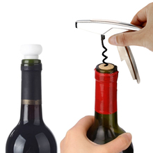 Hot Sale Bar Stainless Steel Red Wine Bottle Opener Functional Corkscrew and Wine Stopper Champagne Freshen Stopper Set Tool