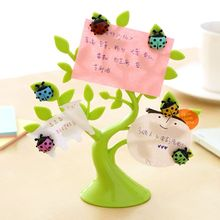 Creative ladybug fridge magnet + 1PCS lucky tree photo clip notes folder microwave refrigerator magnets stickers hoem decor63750