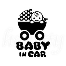 BABY IN CAR Car Vinyl Decal Van Bumper Laptop Sticker PC Window Glass Home Auto Decor Gift Black New