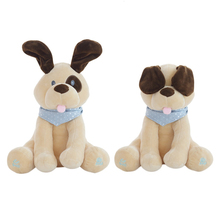 Electric Animated Flappy Plush Toy Children English Puppy Dog Doll that Can Sing and Play Music Appeasing Doll for Boy Girls(China)