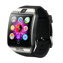 2017 NFC MTK6261 Smart Watch Q18 with Sim&TF Card Slot Push Message Camera Bluetooth Connectivity Andriod Phone better than DZ09