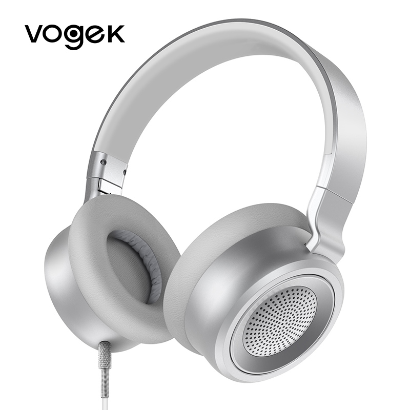 Vogek Professional Studio Headphones with Microphone Foldable Wired Headphones 3.5mm Noise Canceling Headsets Earphone for phone<br>