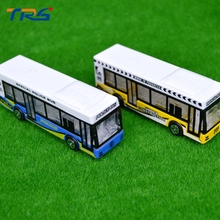 Teraysun 5pcs/lot Model Bus Miniature Scale Bus Model Airport Bus Fire Rescue Bus Model Toy Kits for sale