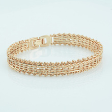 FJ 10mm Men Women Jewelry 585 Gold Color Hand Bracelet Carve Catenary Chains Fashion Jewelry Hot Russia
