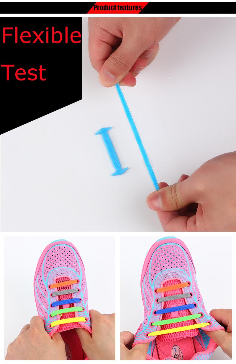 AFashion Store VIP Link Wholesale Shoelace Adult Athletic Running No Tie Shoelaces Elastic Silicone Shoe Lace Children Shoelaces (5)