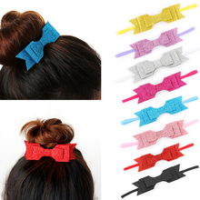 1 PC Stylish   Girls Bling Hair Band Sequined Double Over-size Bow Knot Headwear New Hair Accessories