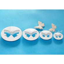 The best discount the most polular butterfly fondant cutters plastic cake cutter set useful sugar paste decorating tools