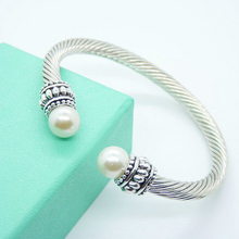 New Fashion Simulated Pearl Open Silver Cuff Pearls Bangles Pearl Jewelry Carter Love Bracelet Bangle For Women Pulseras Mujer