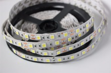 SMD 5050 LED Strip 5M 60led/m DC 12V 24V Flexible Ribbon Diode Tape RGB White Warm White Red Green Blue Yellow Light(China)