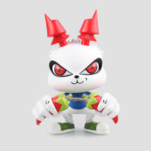 Action Figure mascot White Rabbit Xiang Crisp Chili Rabbit PVC 13.5cm Cartoon gift Decoration Toy Collectible Model anime