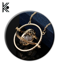 free shipping 20pc Hermione Granger Rotating Horcrux Time Turner Necklace Time Converter Time-Turner pendant Necklace