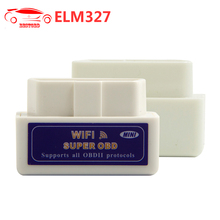 ELM327 V1.5 WIFI / ELM327 V1.5 Bluetooth with PIC18F25K80 Chip OBD2 Scanner White / blue Work on Android / Windows System(China)