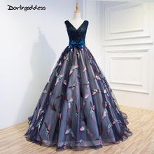 2017 Sexy A Line Wedding Dresses Blue Embroidery Deep V Neck Beading African Wedding Gowns Chapel Train Lace Up Back Bride Dress