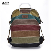 New Fashion Canvas handbags designer Brand Patchwork Rainbow Panelled Women Shoulder Bag Multifunction Messenger Crossbody Bags