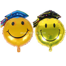 ZLJQ 68*48cm Aluminum Foil Balloon Smile Balloon For Happy Graduate Party Supplies Air Balloon For Wedding Decoration 5D