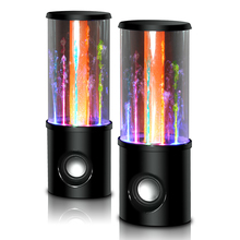 Amazing Water Dancing Stereo Speaker 2.0 Channel Tube Speaker with LED Light Pole Fountain Water Spray for PC/Latop/Mobile phone