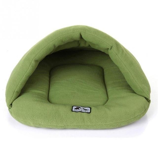 Cama de cachorro de estimação quente de lã macia de inverno 4 tamanhos diferentes pequeno cão gato saco de dormir para filhote de cachorro cama caverna frete