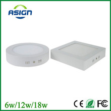 Frameless Round Square LED light Panel 6W 12W 18W AC85-265V Mounted Ceiling Lights Downlight 30 60 90pcs+Driver lamparas DeTecho