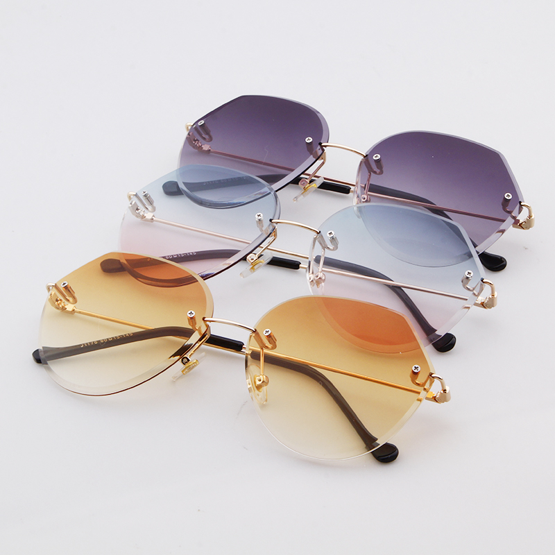 STORY 2018 Cool Rimless Aviator Candy Sunglasses Women Band Designer High Quality Sun Glasses Ocean Lenses Shades Oculos ST006