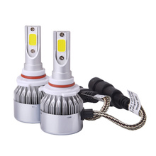 Factory China 2 Pcs/lot C6 H4 H7 H11 LED Car Headlight C6 Headlamp Light HB3/9005 6000K 72W 8000LM Auto Parts External Lights