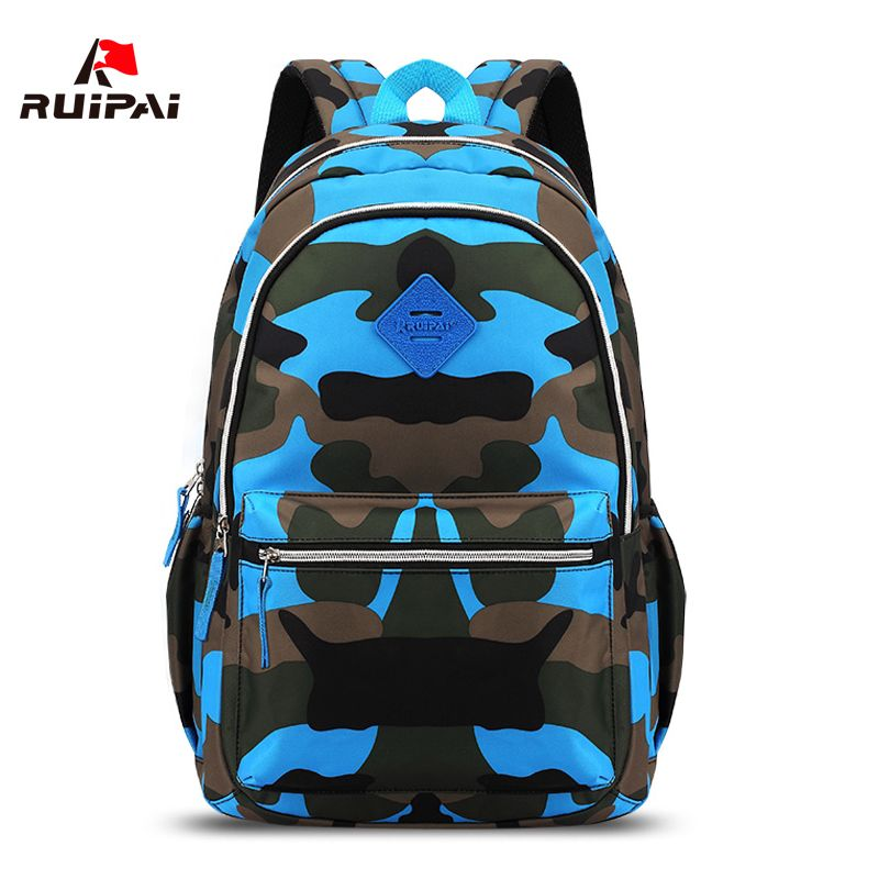 RUIPAI Nylon School bags for Teenagers Camouflage Men backpacks Children Primary Schoolbags for Girls Boys Backpacks women bags<br>
