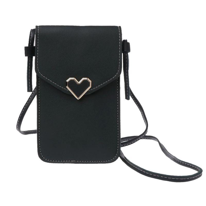 Hot Girl/'s Shoulder Bag Solid Color Satchel Multiuse Stylish Cellphone Card Bags