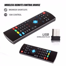 2.4GHz Wireless Remote Control Fly Air Mouse Wireless Qwerty Keyboard for Smart TV Android TV box mini PC #232551(China)