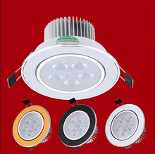 1PCS Led Downlights  9W 12W 15W 21W 110V 220V LED Ceiling dimmable Downlight  cree Lamps Led Ceiling Lamp Home Indoor Lighting
