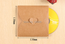 Joy FREE SHIPPING kraft wedding CD DVD Envelope Kraft Paper Sleeve CD Cover Case Bag Size 13*13cm