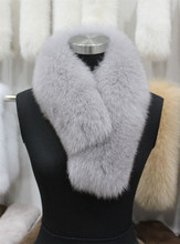 Women's Genuine Real Fox Fur Scarf Scarve Clips Fur Collar Free Shipping