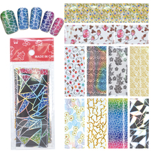 YZWLE 1 Pack(10Pcs) DIY Nail Art Transfer Foil Decal Beauty Craft Decorations Accessories For Manicure Salon #XKT-N22(China)