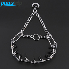 Strong Metal Dog Collar Lead Outdoor Chain Dog Training Collar For Medium Large Dogs S-XL(China)