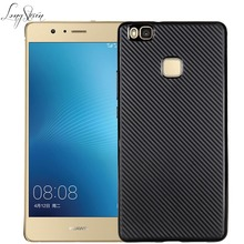 [Long Steven]For Huawei P9 Lite Case Ultra-Thin Design Carbon Fiber Pattern Cover For Huawei Ascend P 9 Lite Case Funda Para