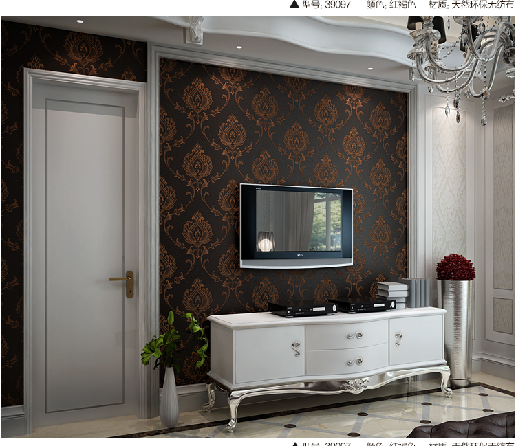 ShineHome 10m European Classical Floral Pattern Wallpaper Mural Roll for Kids Room Livingroom Non Woven Wall Paper Decal DIY<br>