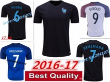 New Quality Superior Thailand 2016 2017 adults France Jerseys T-shirt. Custom made 17 18 adult shirt Free Shipping