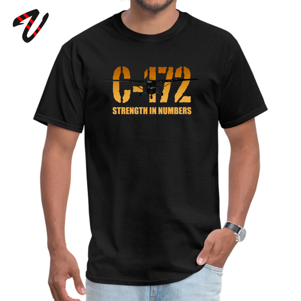cosie Young Special Casual Tees O-Neck Summer Fall 100% Cotton Fabric T Shirt Summer Short Sleeve Tshirts Drop Shipping Cessna C-172 Strength in Numbers -670 black