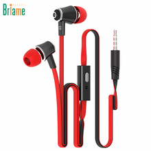 Briame In Ear Earphones Super Bass Portable Headset Sport Headphones with Microphone for Samsung iPhone 5 5S 6 6S Xiaomi Huawei(China)