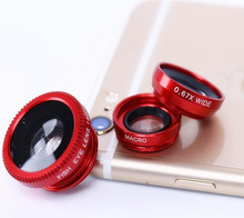 For huawei p9 P8 lite honor 5c 8 7 5X pro original Wide-Angle Macro Fish eye 3 in 1 Phone Lens with Universal Clip fisheyeLenses