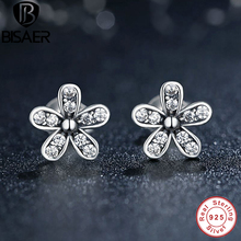 Buy Authentic 925 Sterling Silver Crystal Dazzling Daisy Stud Earrings Women Sterling Silver Brand Fine Jewelry Bijoux GOS403 for $7.21 in AliExpress store