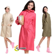 2017 New cloak Raincoat  Women  Waterproof Thin Long Trench Rain Poncho Coat Jacket Female Chubasqueros Impermeables Mujer