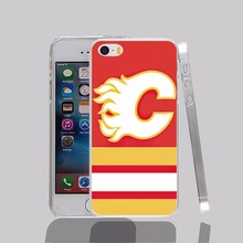 14573 calgary flames hockey canada transparent Cover cell phone Case for iPhone 4 4S 5 5S 5C 6 6S Plus 6SPlus